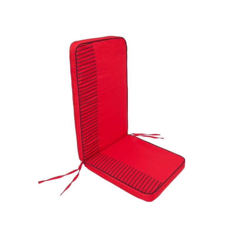 Poduszka Rio - Czerwony z paskami - 113x47 cm