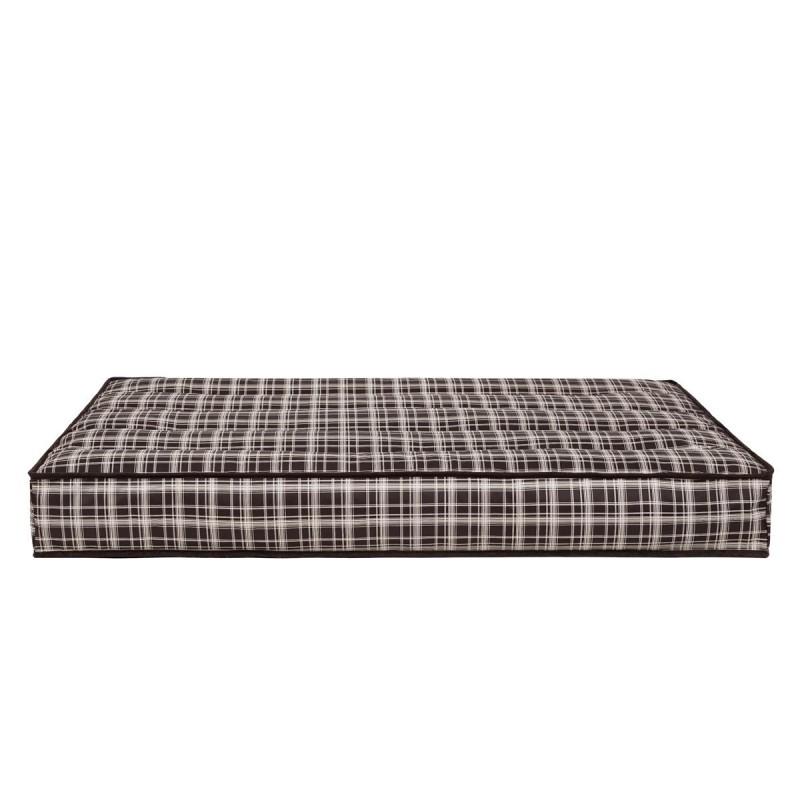 Materac - Brązowa kratka - 120x82 cm