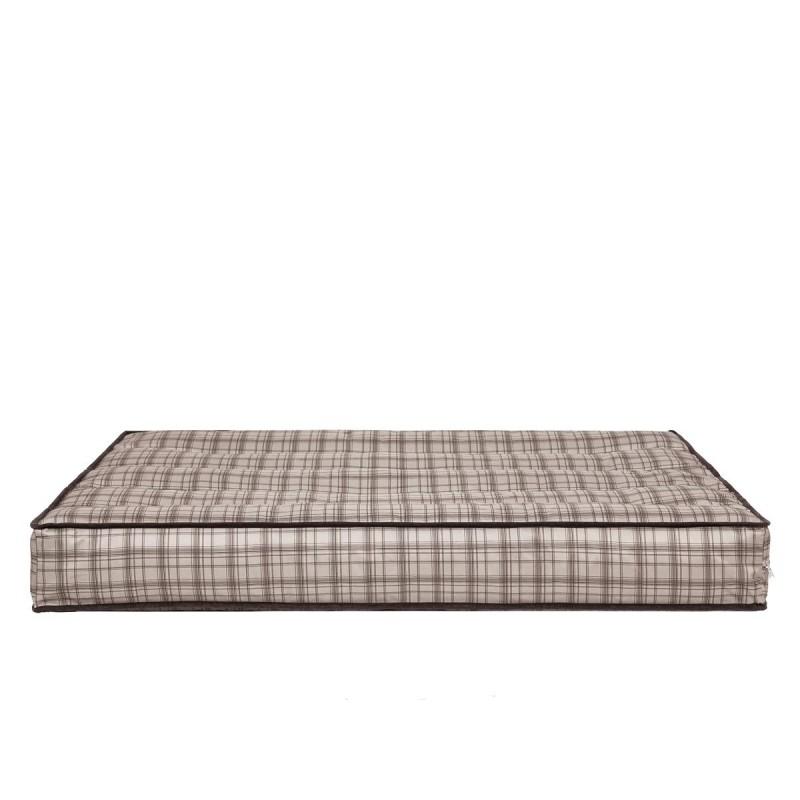 Materac - Beżowa kratka - 120x82 cm