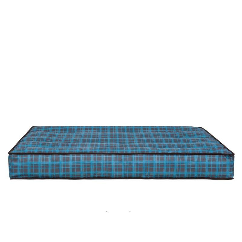 Materac - Niebieska kratka - 120x82 cm