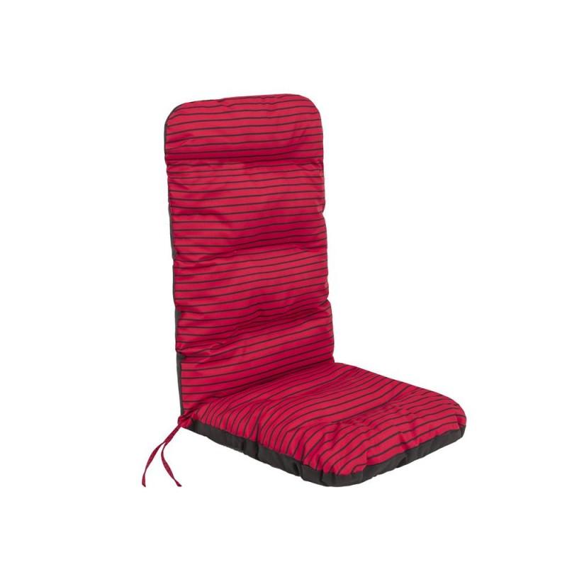 Poduszka Basia - Czerwone paski - 123x48 cm