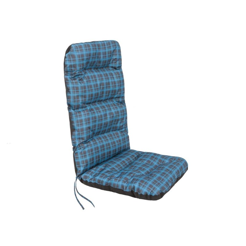 Poduszka Basia - Niebieska kratka - 123x48 cm