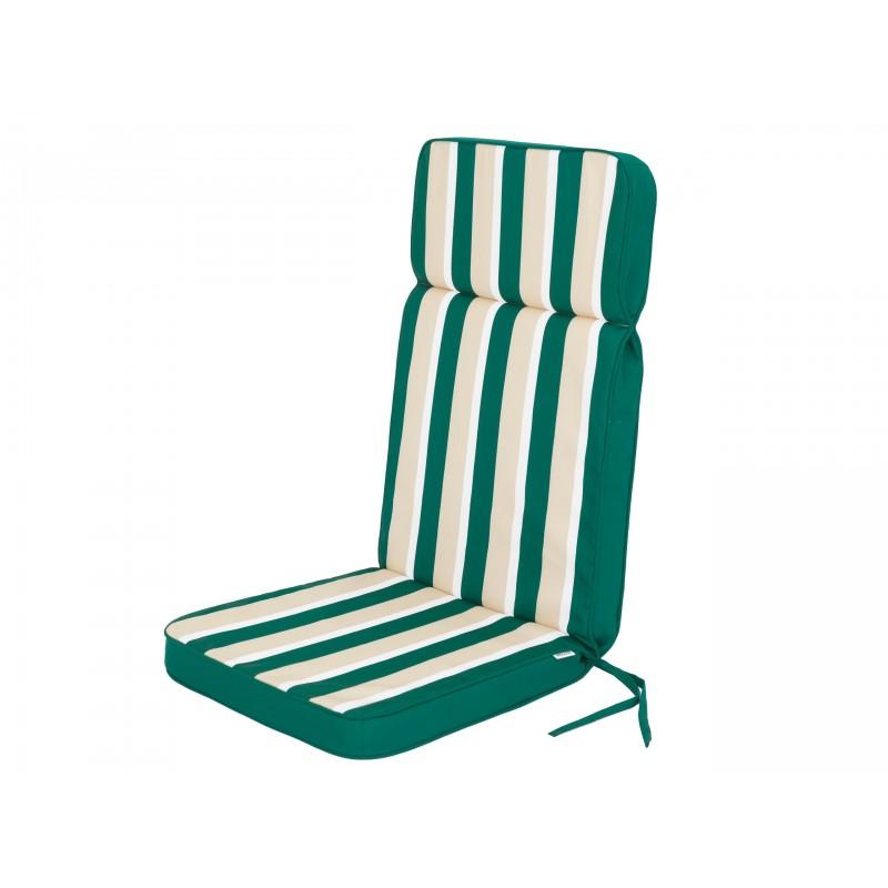 Poduszka Eliza - Zielony z beżowymi pasami