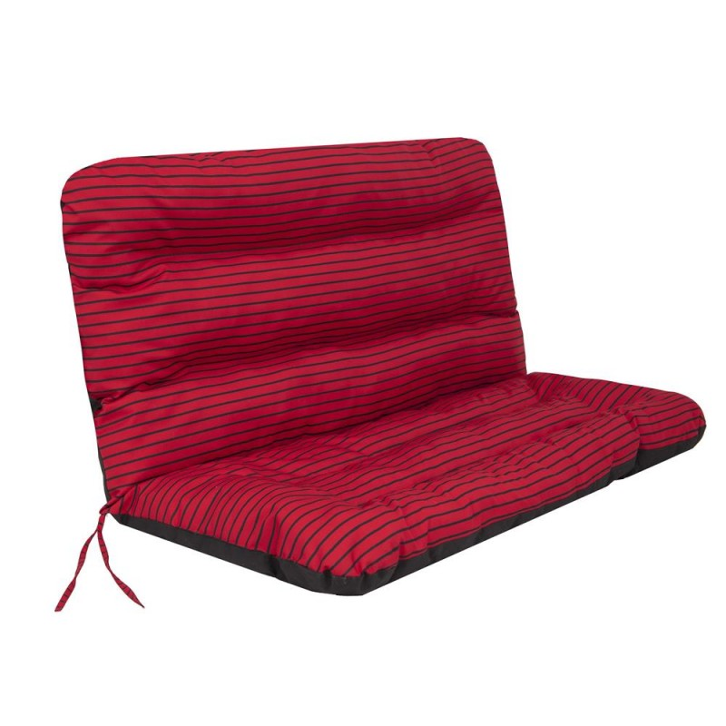 Poduszka Ania - Czerwone paski - 120x110 cm