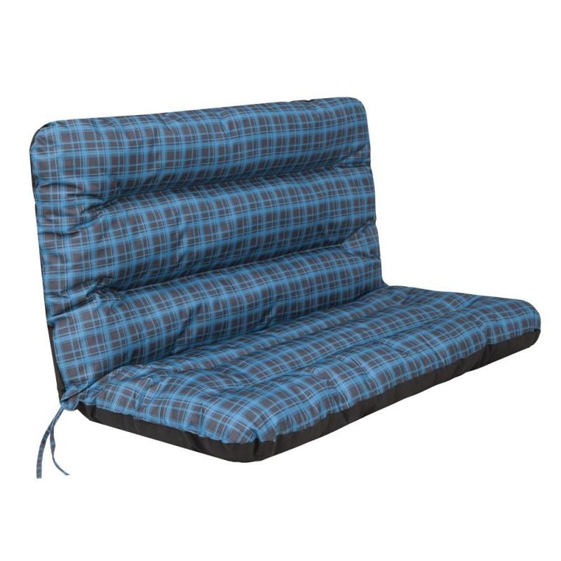 Poduszka Ania - Niebieska kratka - 120x110 cm
