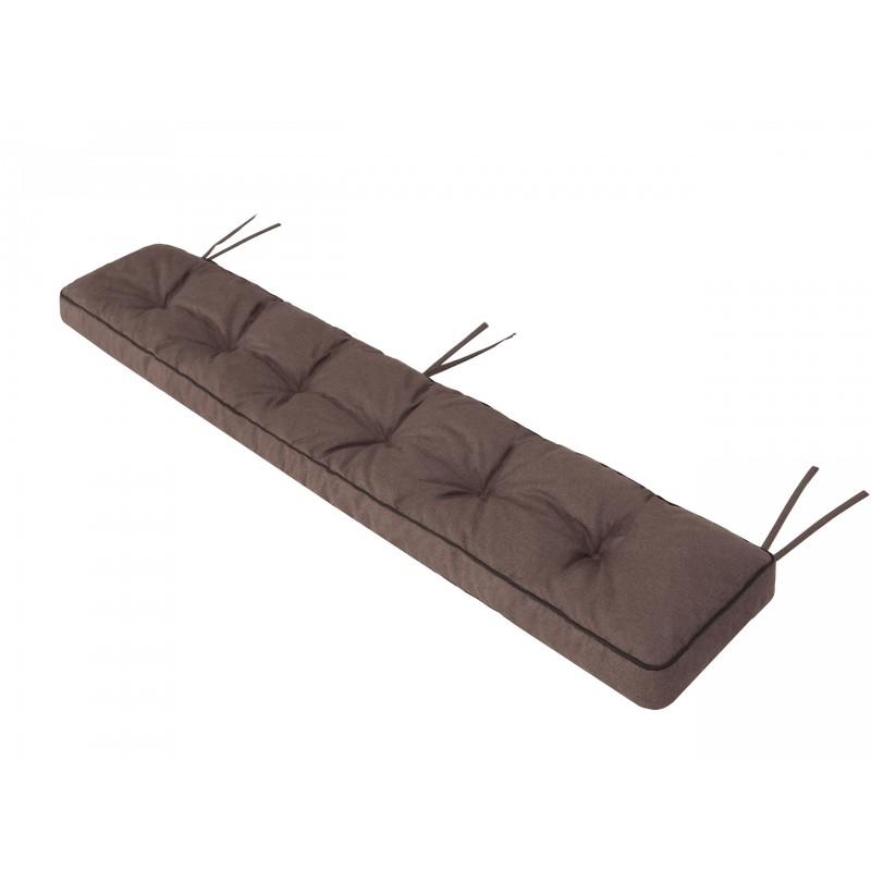Poduszka na ławkę Etna - Brąz ekolen- 120x40cm