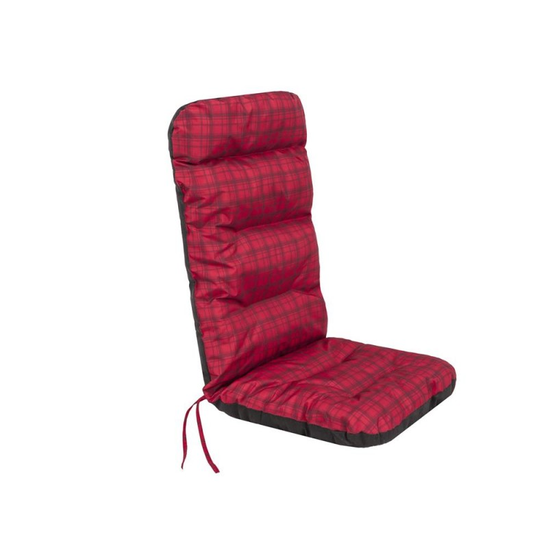 Poduszka Basia - Czerwona kratka - 123x48 cm