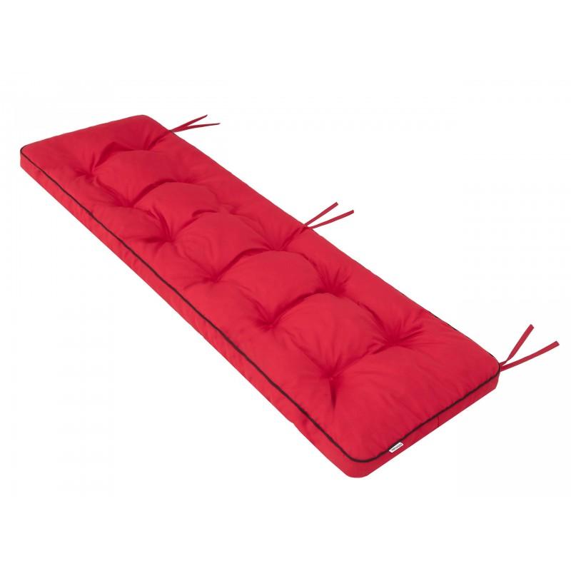 Poduszka na ławkę Etna - Czerwony - 180x50cm