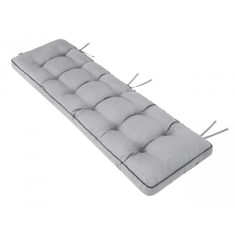 Poduszka na ławkę Etna - Popiel - 180x50cm