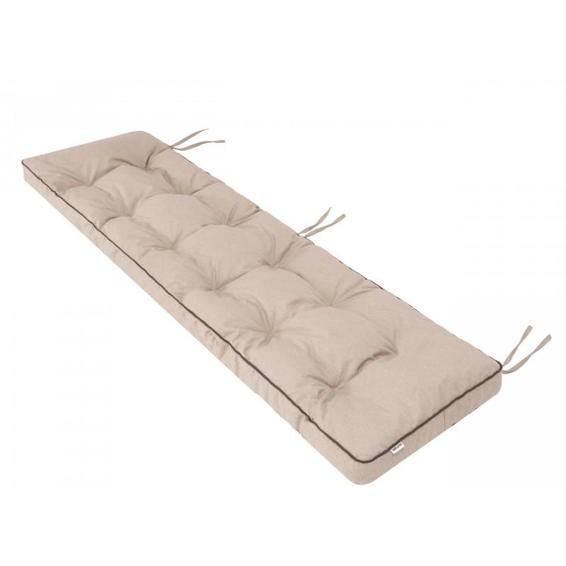 Poduszka na ławkę Etna - Beż ekolen - 180x50cm