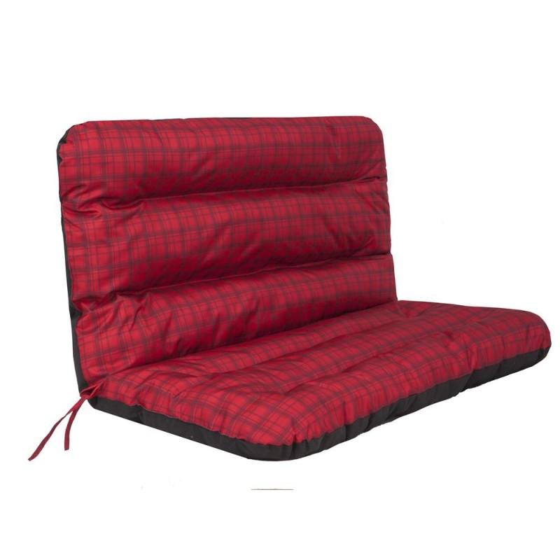 Poduszka Ania - Czerwona kratka - 120x110 cm
