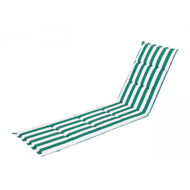 Poduszka na leżak Alicja - Zielony z pasami