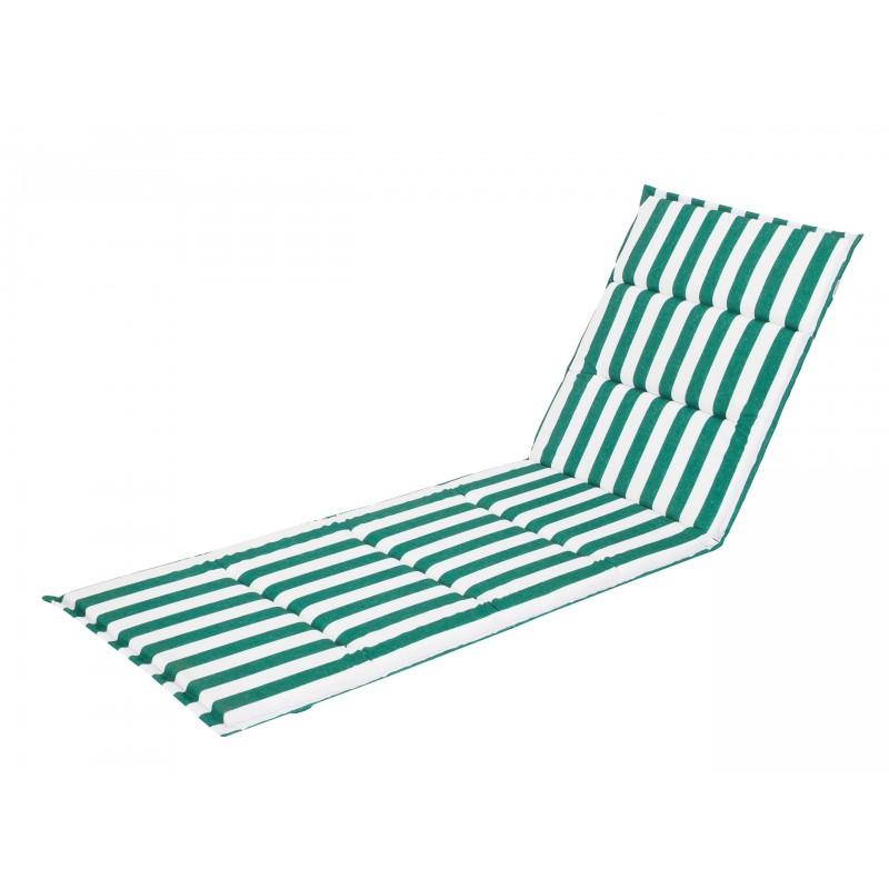 Poduszka na leżak Oliwier - Zielony z pasami