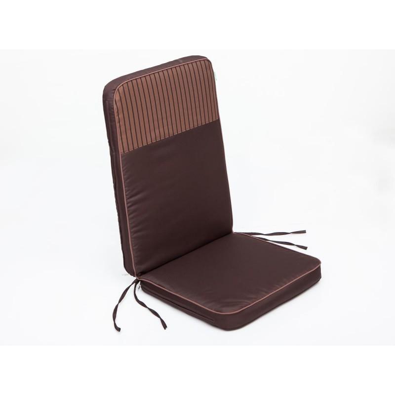 Poduszka Rio - Brąz z jasno brązowymi paskami top - 113x47 cm