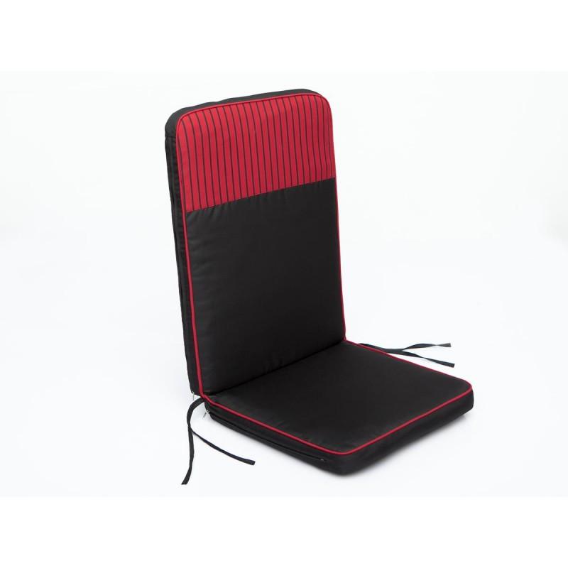 Poduszka Rio - Czarny z czerwonymi paskami top - 113x47 cm