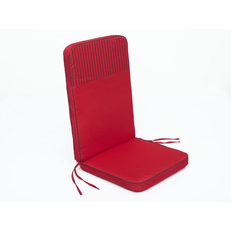 Poduszka Rio - Czerwony z paskami top - 113x47 cm